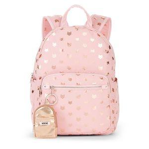 Handbags - Pink gold cat polka dot school backpack new cute